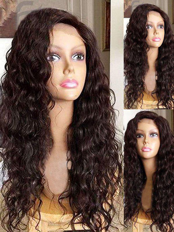 Sale Long Side Bang Water Wave Synthetic Lace Front Wig