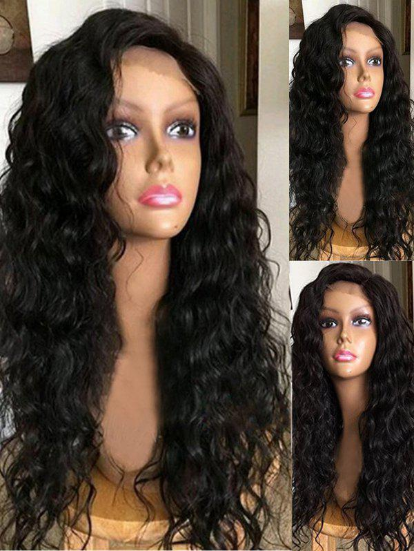 Shops Long Side Bang Water Wave Synthetic Lace Front Wig