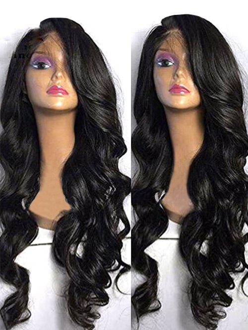 Chic Long Side Bang Body Wave Synthetic Lace Front Wig