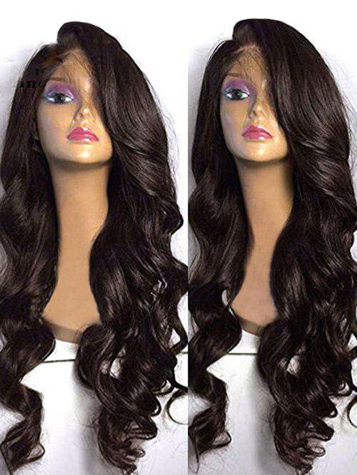 Discount Long Side Bang Body Wave Synthetic Lace Front Wig