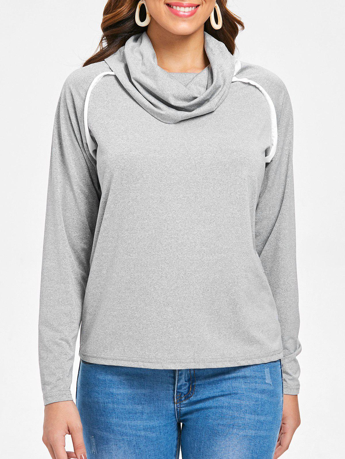 Latest Long Sleeve Cowl Neck T-shirt