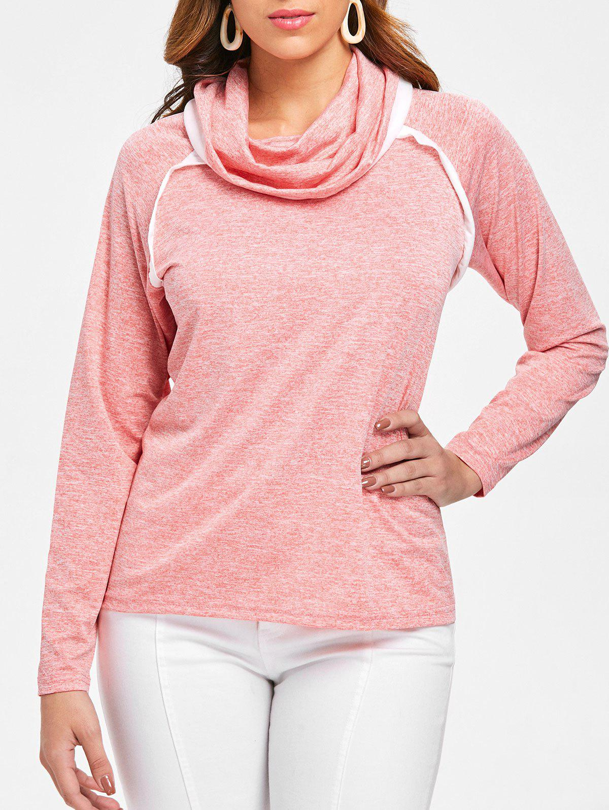 Discount Long Sleeve Cowl Neck T-shirt