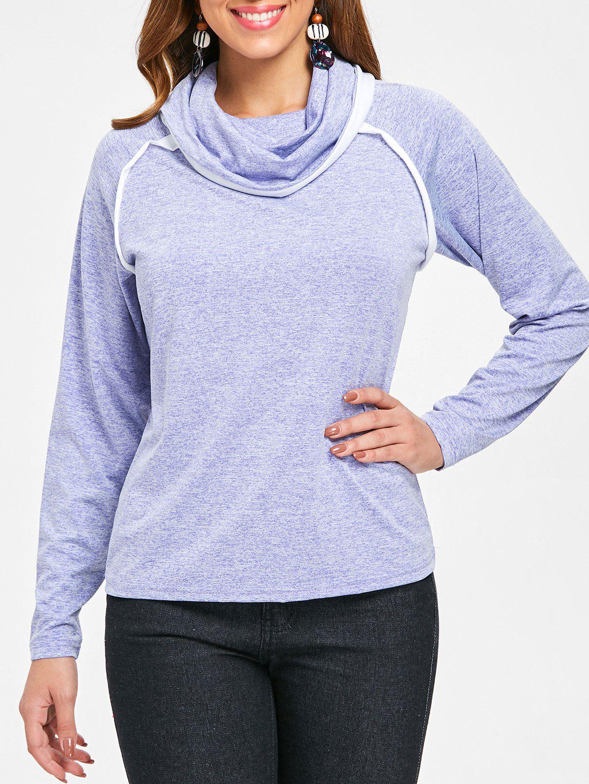 Sale Long Sleeve Cowl Neck T-shirt