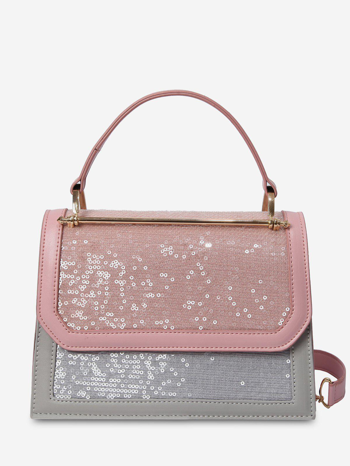 Store Top Handle Sequins Shoulder Bag
