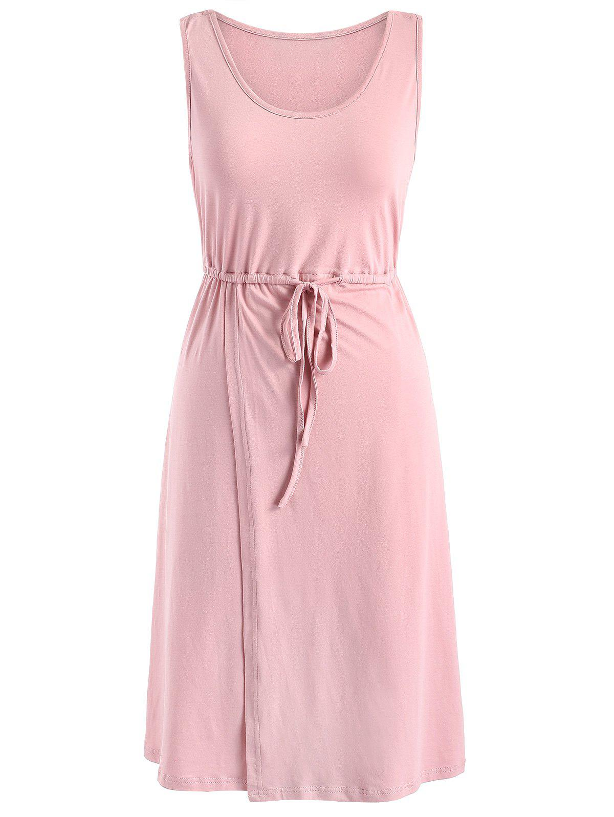 Fashion Sleeveless Drawstring Maternity Dress