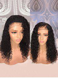 Medium Free Part Water Wave Human Hair Lace Front Wig -