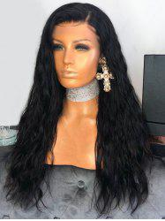 Long Inclined Bang Corn Hot Wavy Synthetic Wig -