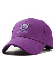Naughty Devil Embroidery Baseball Cap -