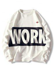 Pullover Letter Print Casual Sweatshirt -