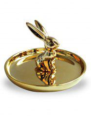 Ceramic Rabbit Ring Holder Trinket Dish -