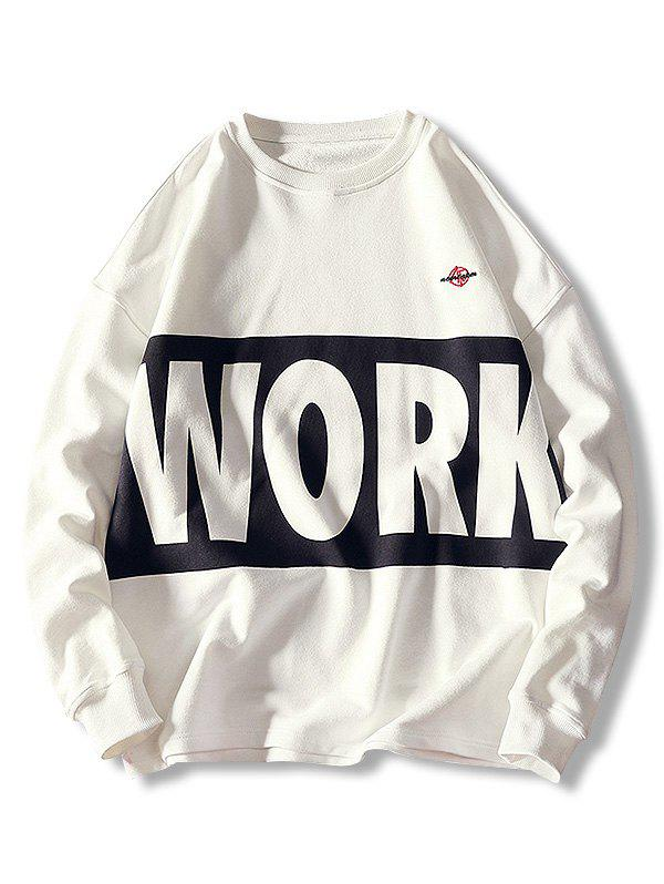 Sale Pullover Letter Print Casual Sweatshirt