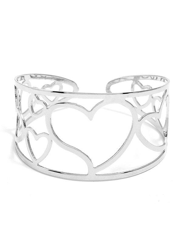 Buy Hollow Out Sweetheart Alloy Cuff Bracelet