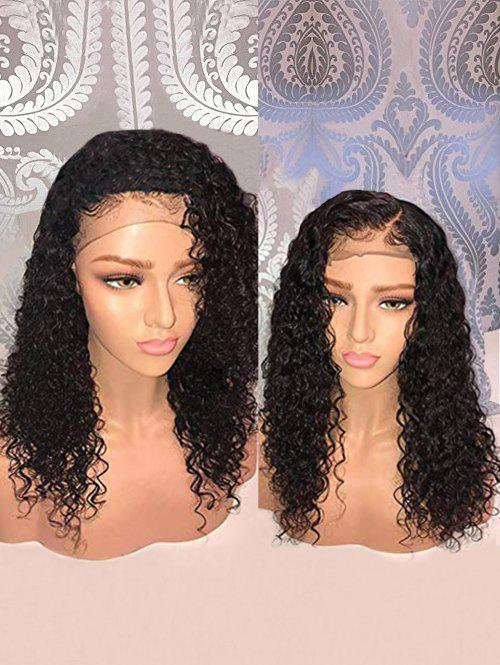 Latest Medium Free Part Water Wave Human Hair Lace Front Wig