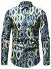 Casual Geometric Print Button Up Shirt -