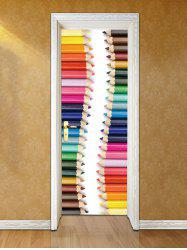 Pencil Crayons Printed Door Decals -