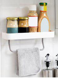 Wall Storage Holder with Towel Hanger for Bathroom -