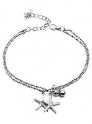 Starfishes Shaped Pendant Layer Beach Anklet Chain -