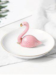 Table Ornaments Ceramic Flamingo Jewelry Plate -