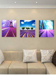 Lavender Field Print Removable Canvas Wall Art -