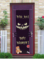 Halloween Monster Letter Print Removable Door Stickers -