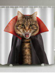 Halloween Cat Bathroom Curtain -