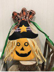 Pumpkin Cat Witch Shaped Tartan Halloween Gift Candy Bag -