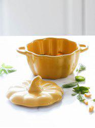 Pumpkin Shape Ceramic Lidded Soup Bowl -