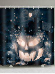 Halloween Moon Night Pumpkin Printed Bath Curtain -
