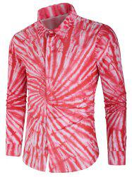 Vortex Tie Dye Hidden Button Shirt -