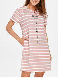 HOLIDAY Striped Sleeping Dress -