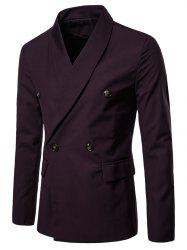 Shawl Collar Solid Color Blazer -
