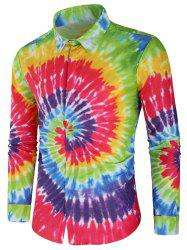 Long Sleeve Rainbow Tie Dye Shirt -
