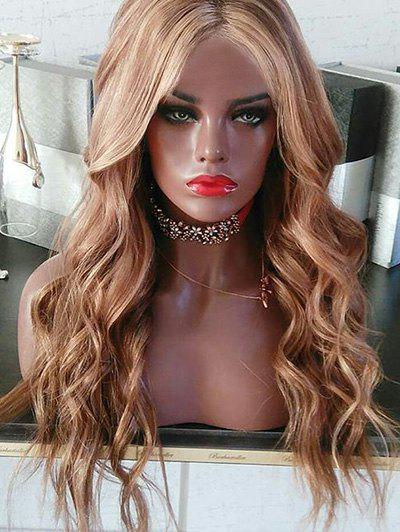 Trendy Long Center Parting Wavy Colormix Synthetic Wig