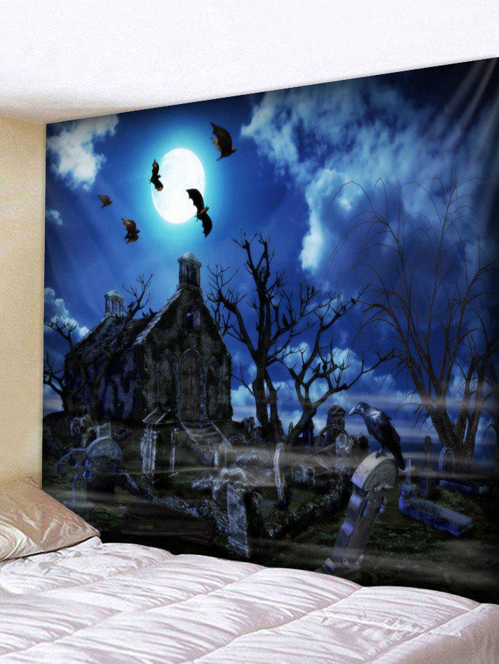 Shop Wall Hanging Art Halloween Night Castle Print Tapestry