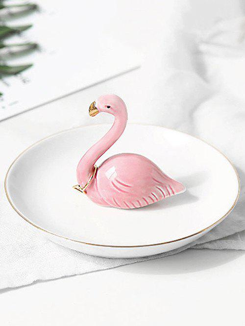 Latest Table Ornaments Ceramic Flamingo Jewelry Plate