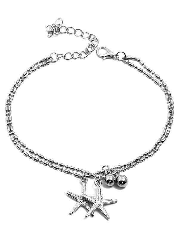 Buy Starfishes Shaped Pendant Layer Beach Anklet Chain
