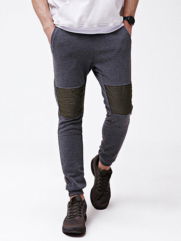 Discount Knee Patchwork Pocket Casual Jogger Pants