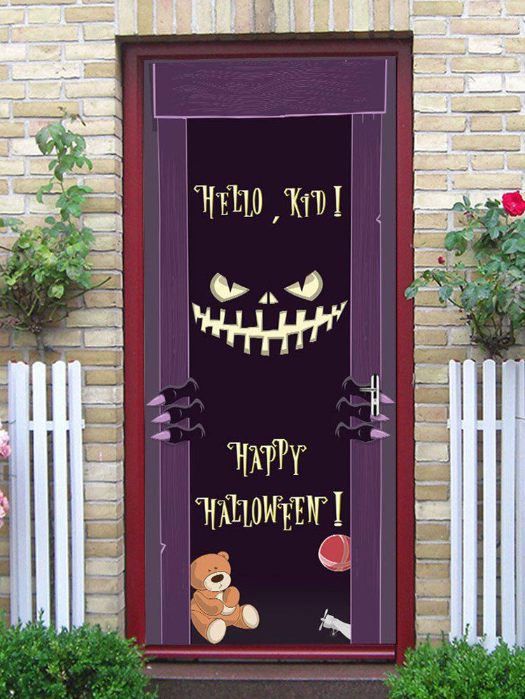 Online Halloween Monster Letter Print Removable Door Stickers