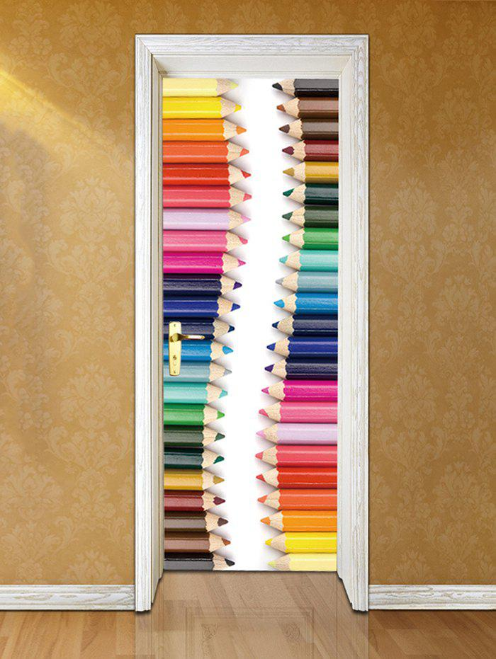 Discount Pencil Crayons Printed Door Decals