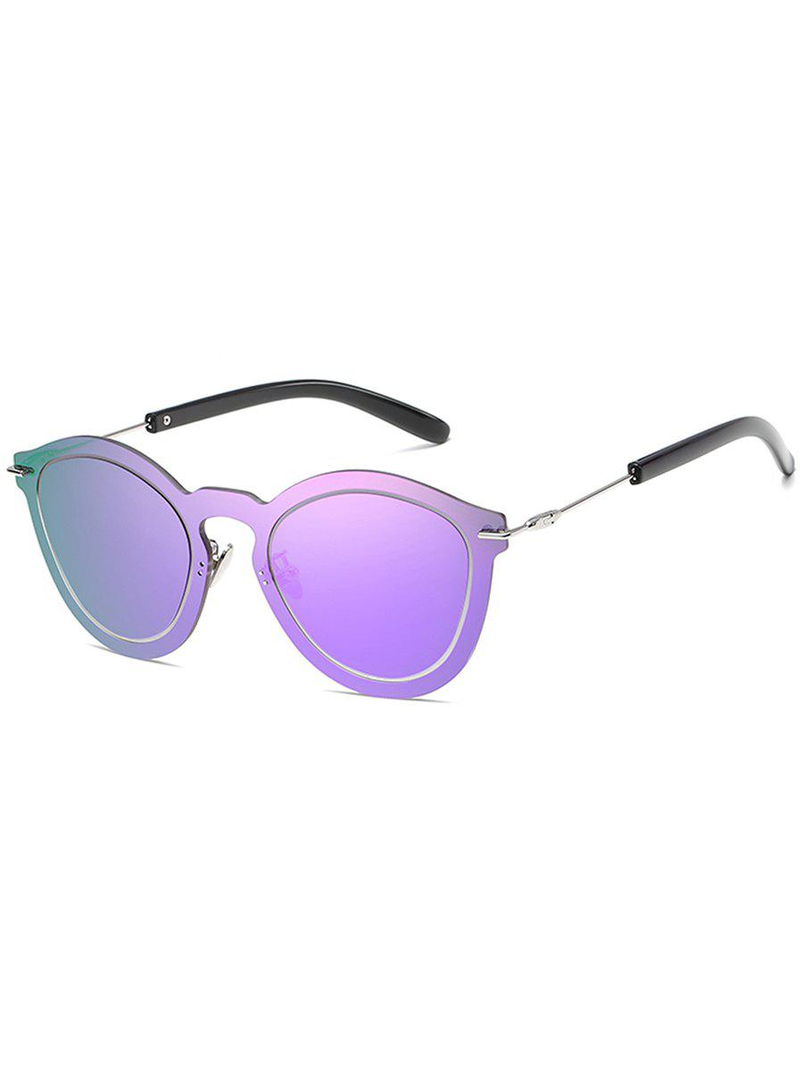 Sale Anti Fatigue Rimless One Piece Sunglasses