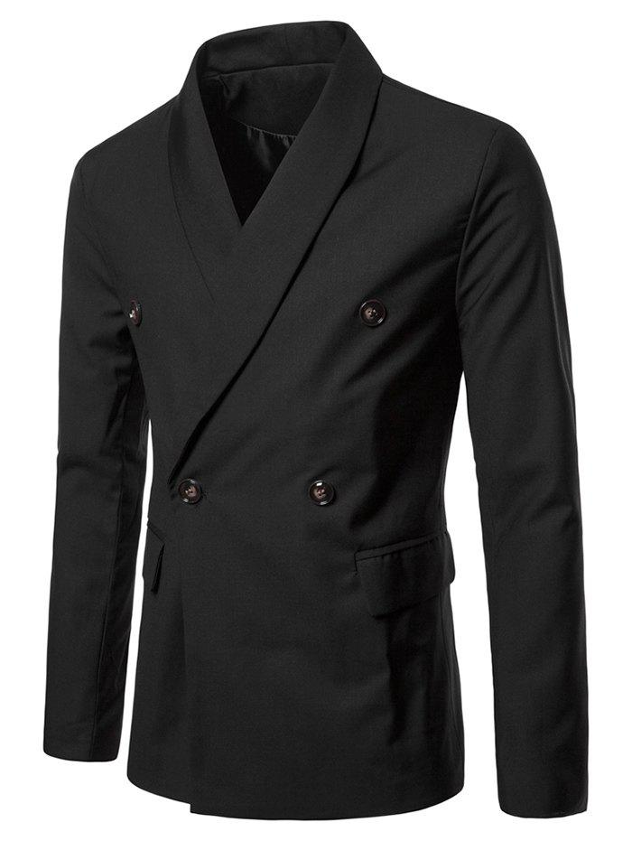 Buy Shawl Collar Solid Color Blazer