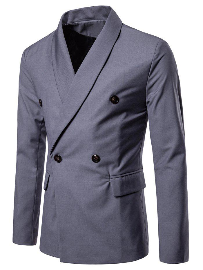 Latest Shawl Collar Solid Color Blazer