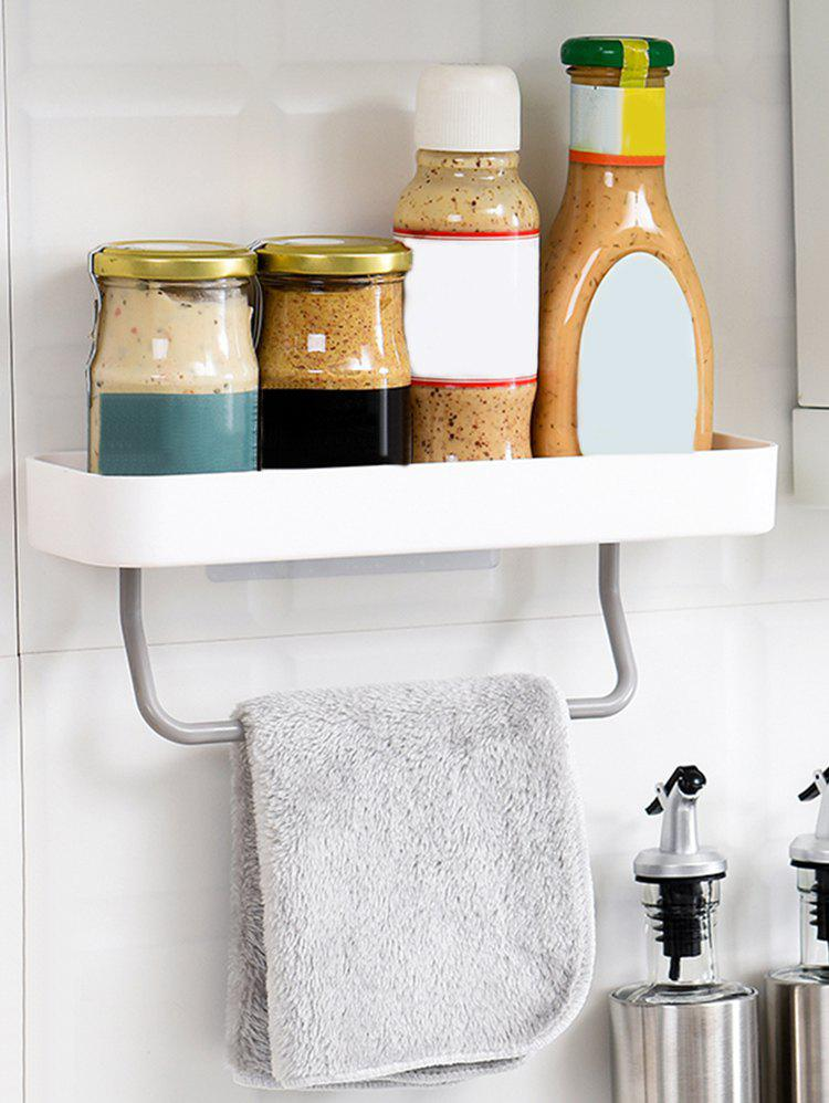 Affordable Wall Storage Holder with Towel Hanger for Bathroom