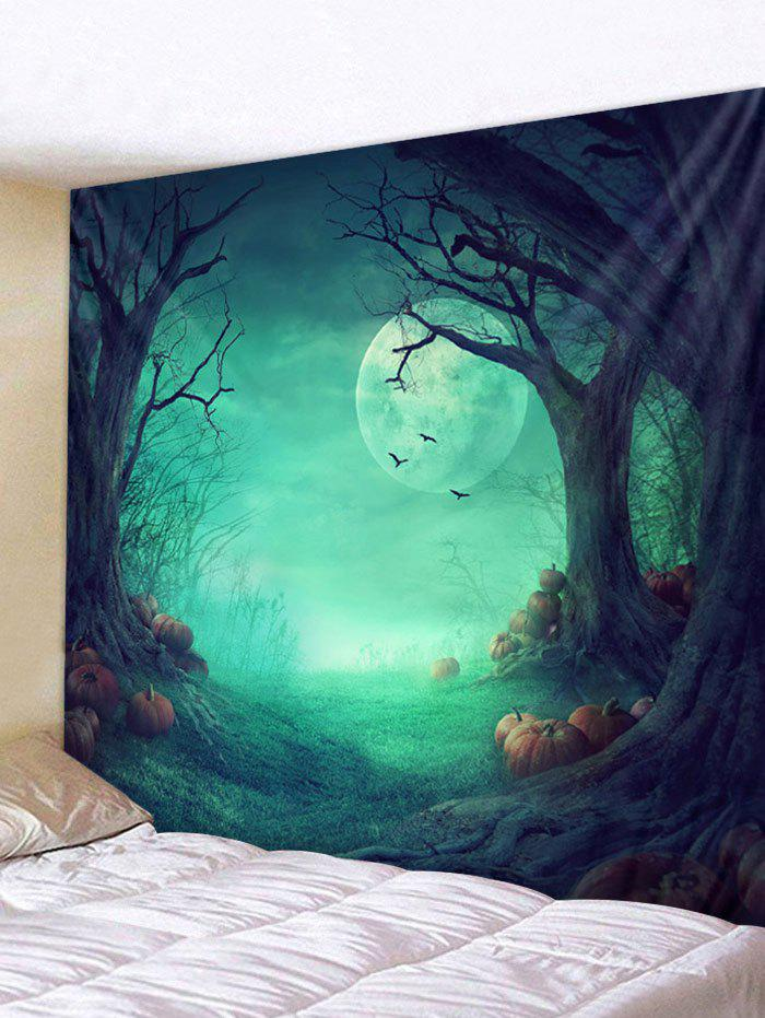 New Halloween Pumpkin Bat Tapestry Wall Decoration
