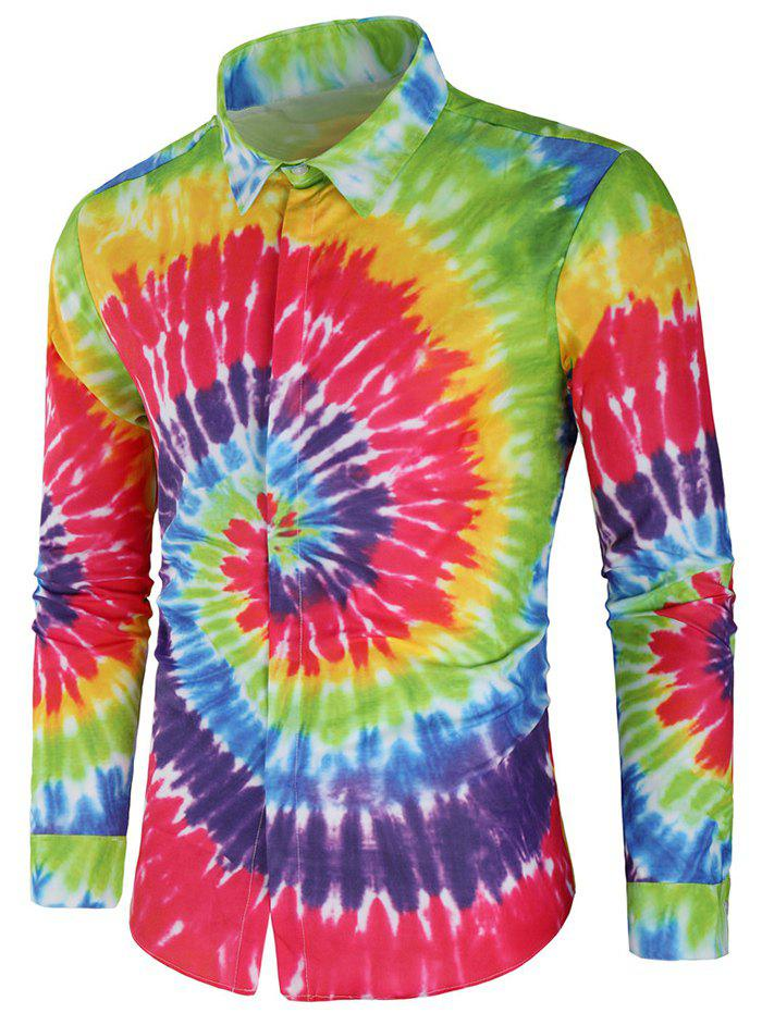 Best Long Sleeve Rainbow Tie Dye Shirt
