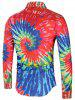 Long Sleeve Colorful Tie Dye Shirt -