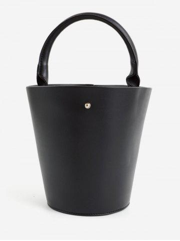 Bucket Solid PU Leather Retro Tote Bag