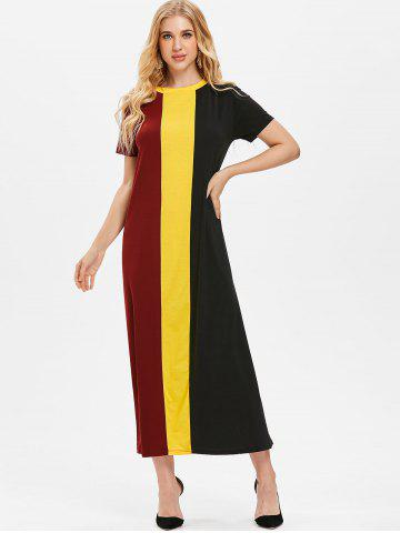 Color Block Long Tee Dress