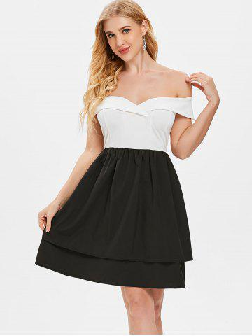 Off The Shoulder Fit and Flare Dress
