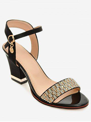 Plus Size Rhinestone Dazzling Buckled Party Sandals